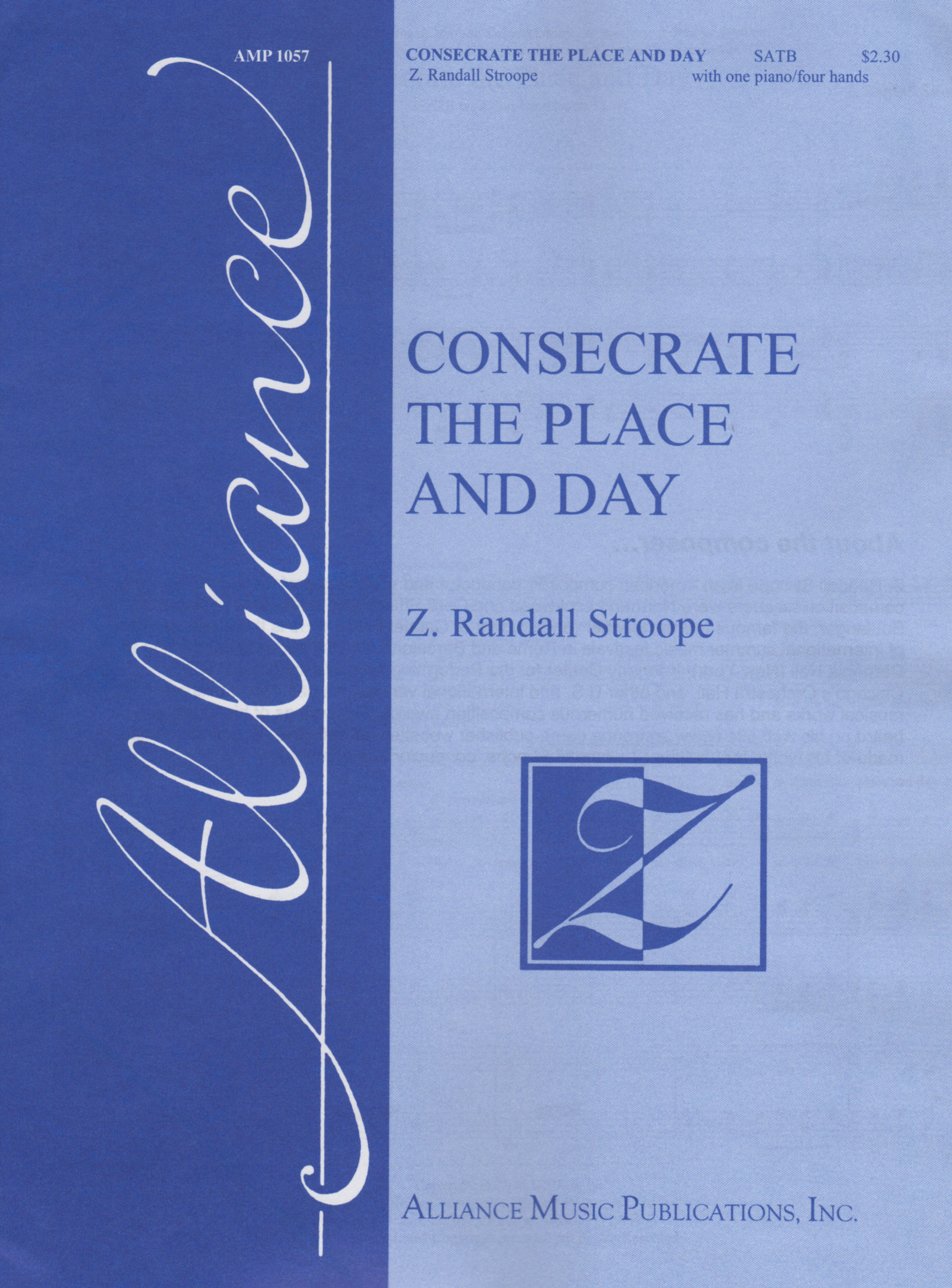 Alliance Music Publications Inc  - Consecrate the Place and Day